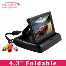 """4.3 """"Pliable TFT LCD Couleur Moniteur De Voiture Miroir Inverse Rétroviseur 4.3 pouce de Sécurité De Voiture Moniteur pour Caméra DVD MAGNÉTOSCOPE(China (Mainland))"""