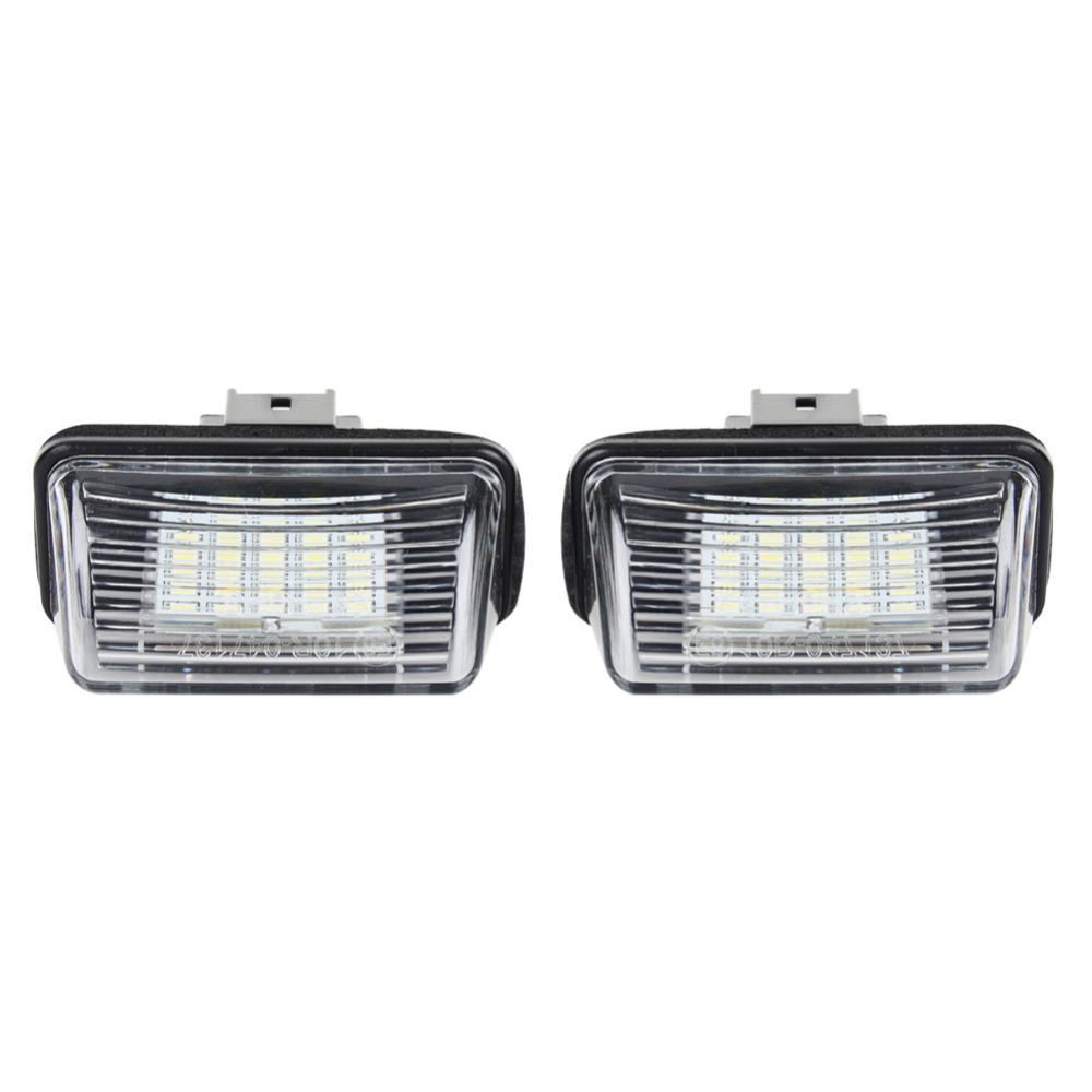 A24 1 Pair LED Number License Plate Light Lamp 12V DC 6000K For Peugeot 206 207 306 307 406 407 Z3U2 White Color 2pcs for peugeot 106 3d 1007 207 307 308 3008 406 407 508 607 18smd car led license plate light lamp oem replace automotive led