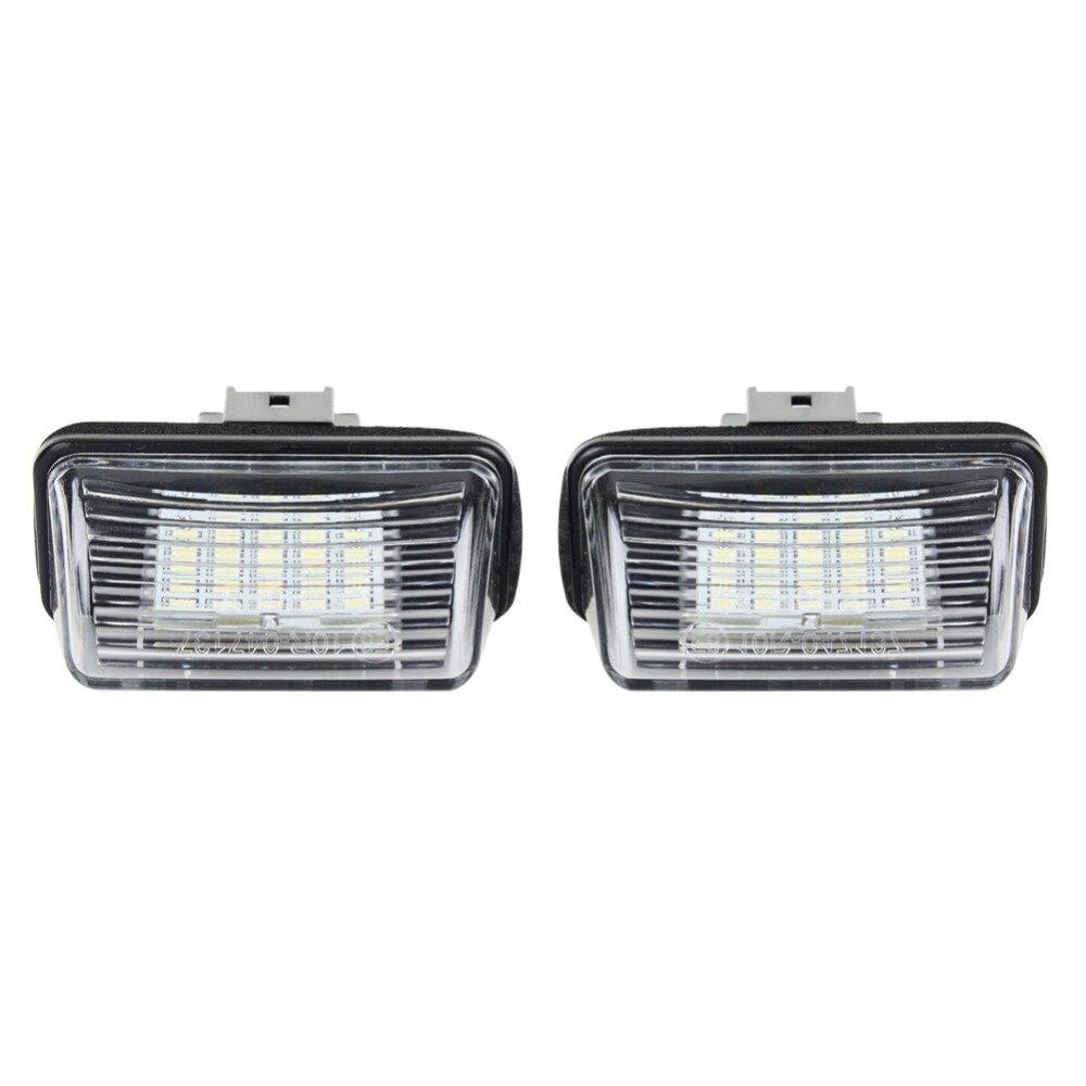 Car colour number plate - A24 1 Pair Led Number License Plate Light Lamp 12v Dc 6000k For Peugeot 206 207 306 307 406 407 Z3u2 White Color