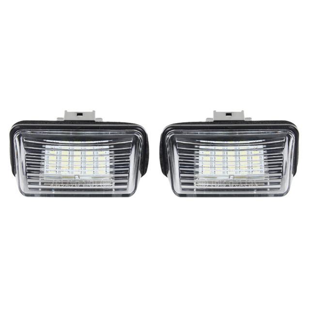 A24 1 Par LED Placa Número de Licença de Luz Da Lâmpada 12 V DC 6000 K Para Peugeot 206 207 306 307 406 407 Z3U2 Branco cor