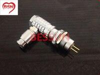 Lemo 0B 7pin connector plug , FHG.0B.307 ECG.0B.307, 90 degree elbow plug,plugMedical connector plug 7 pin,