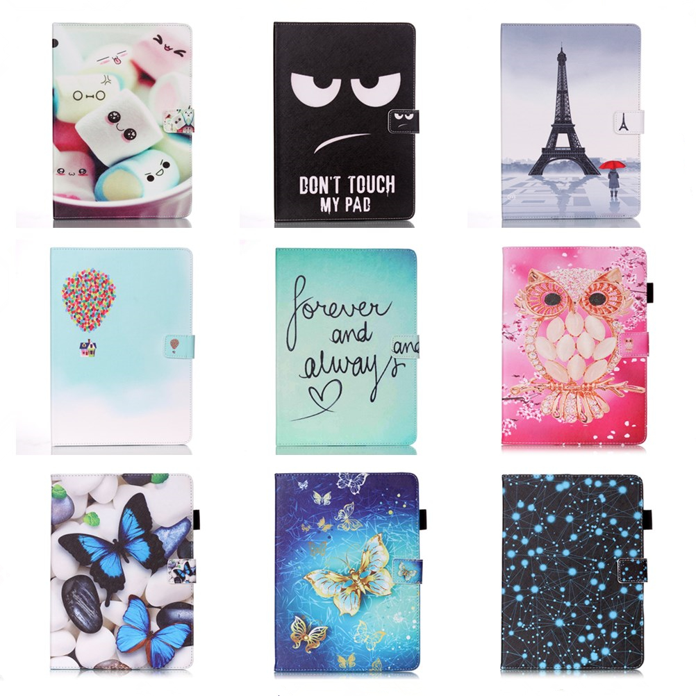 For Samsung T530 SM-T530 Leather Case, Butterfly PU Leather Stand Cover Case for Samsung Galaxy tab 4 10.1 inch T531 T535 #D аккумулятор для samsung galaxy tab 4 10 1 sm t530