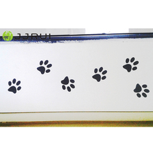 "JJRUI 12 Paw Print Vinyl Wall Sticker Decal Car Sticker Wheelie Bin Dog Cat 12(2"" x 2"" paw prints)"