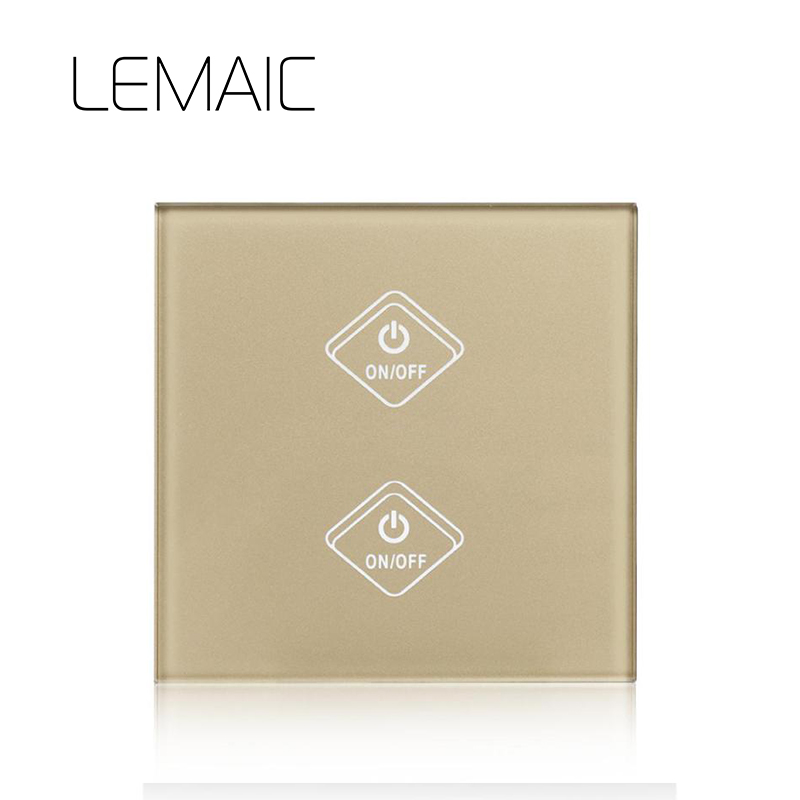 LEMAIC WiFi Smart Switch 2 Gang Light Wall with APP Remote Control Work Switch Amazon Alexa Google Home Timing Function Touch lemaic wifi smart switch 2 gang light wall switch app remote control work with amazon google alexa timing function touch screen
