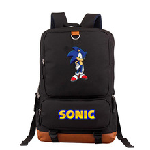 Funny Sonic Mario Daily Backpack School Bags for Teenagers W
