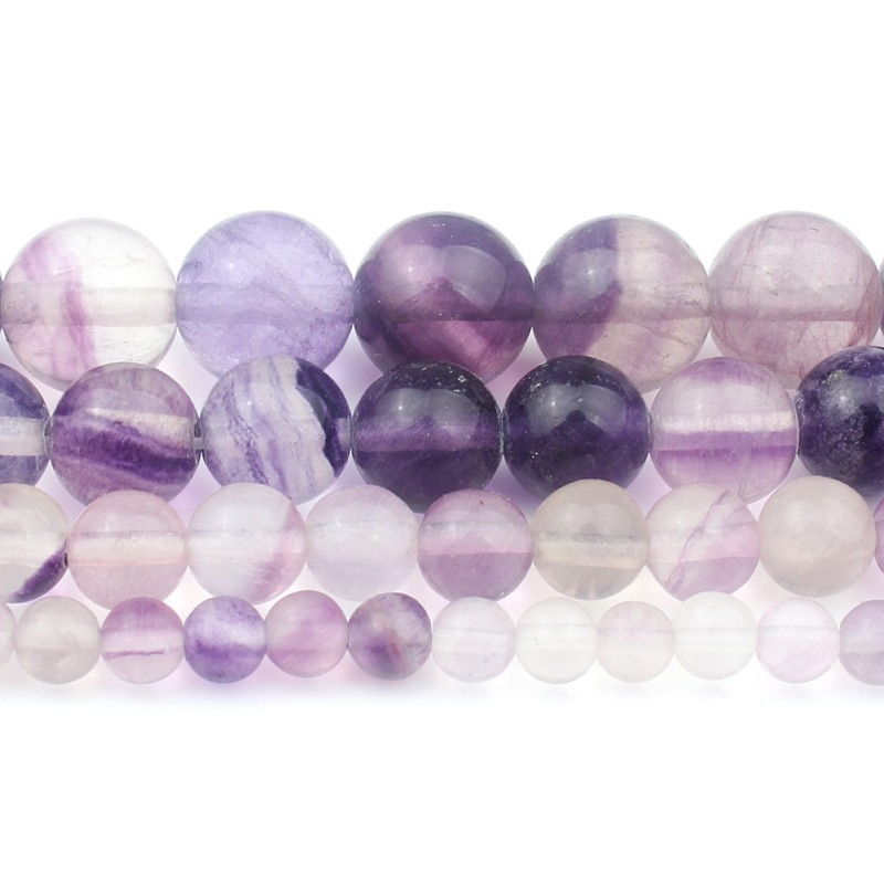 4-6-8-10mm Natural Russican Amethyst Gemstones Round Loose Beads 15/'/'