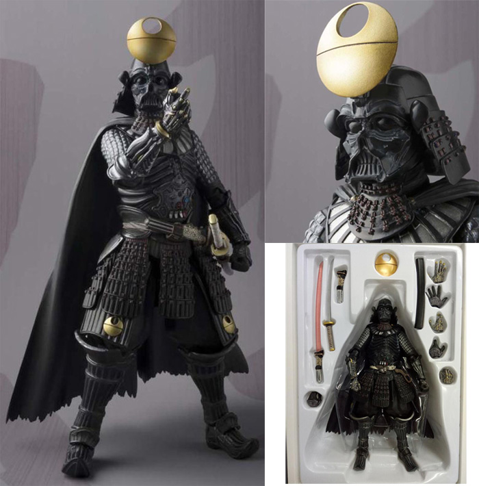 18 CM Anime Star Wars Samurai Taisho Darth Vader mort Star armure PVC Action Figure collection modèle jouet