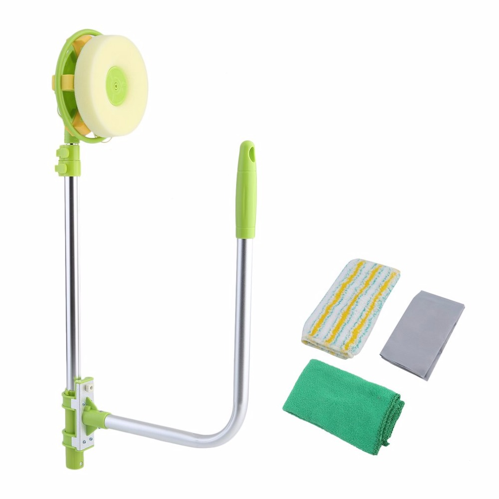 Multifunction Telescopic Window Cleaning Brush Glass Cleaner Household Flexible Rotation Dust Cleaning Brush Practical Design brush for windows telescopic sponge rag mop cleaner window home cleaning tools hobot brush for washing windows dust cleaning