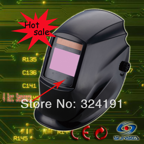 2016 Quality TIG MIG ARC Auto darkening welding hood mask Helmet 4 Arc sensors 114x133 filter