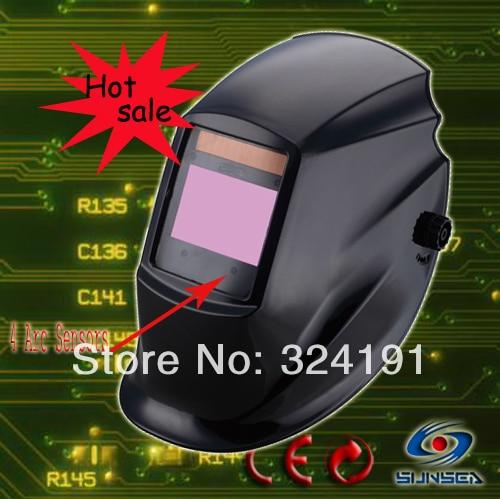 ФОТО 2016 Top Quality TIG MIG ARC Auto darkening welding hood mask , 4 Arc sensors welding mask big viewing size