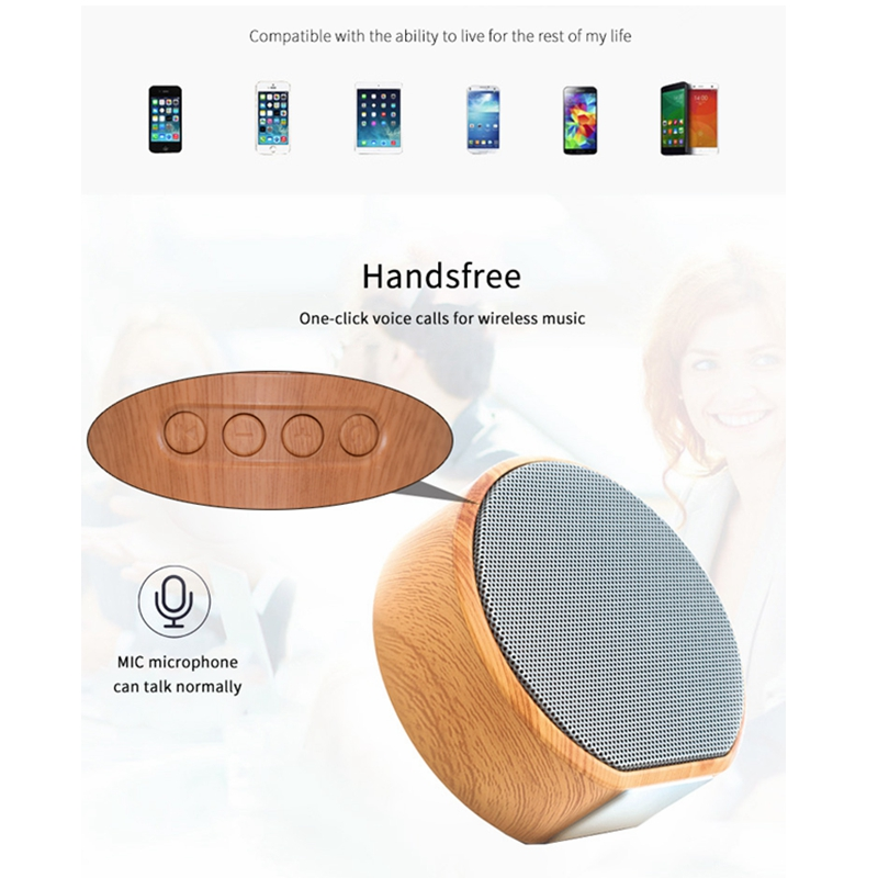 Image 5 - Wood Altavoz Bluetooth Speaker Portable Subwoofer Wireless Mini Bluetooth Sound Box Support AUX TF Card USB for iPhone Android-in Portable Speakers from Consumer Electronics