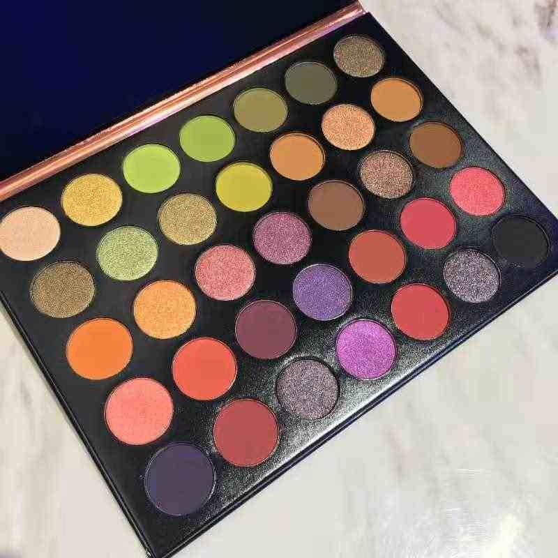 Макияж Косметическая Палетка глазурованные выскакивающие палитры теней 35 цветов Тени для век одежда высшего качества
