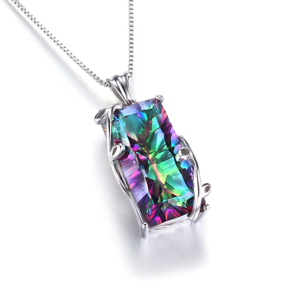 2014 Hot Huge 17.8ct Natural Rainbow Mystic Topaz Vintage - Նուրբ զարդեր - Լուսանկար 4