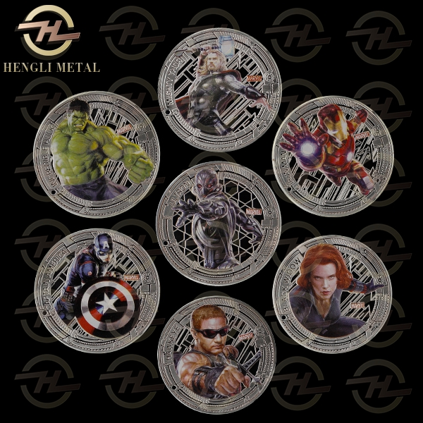 7pcs 2016 Marvel Captain America Capt Civil War Coin 2015