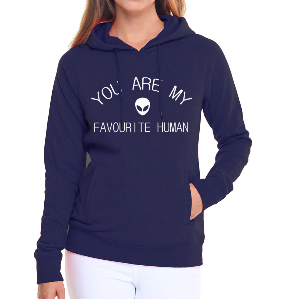 funny slogan Womens Sweatshirts YOU ARE MY FAVOURITE HUMAN casual pullovers 2017 fleece hoodies kpop hoody top pink tracksuits