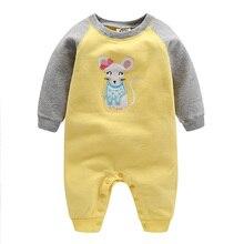 Коллекция года, Высококачественная весенняя одежда для маленьких девочек с рисунком «orangemom» Одежда для младенцев из хлопка Одежда для маленьких девочек возрастом от 0 до 24 месяцев комбинезон для маленьких мальчиков