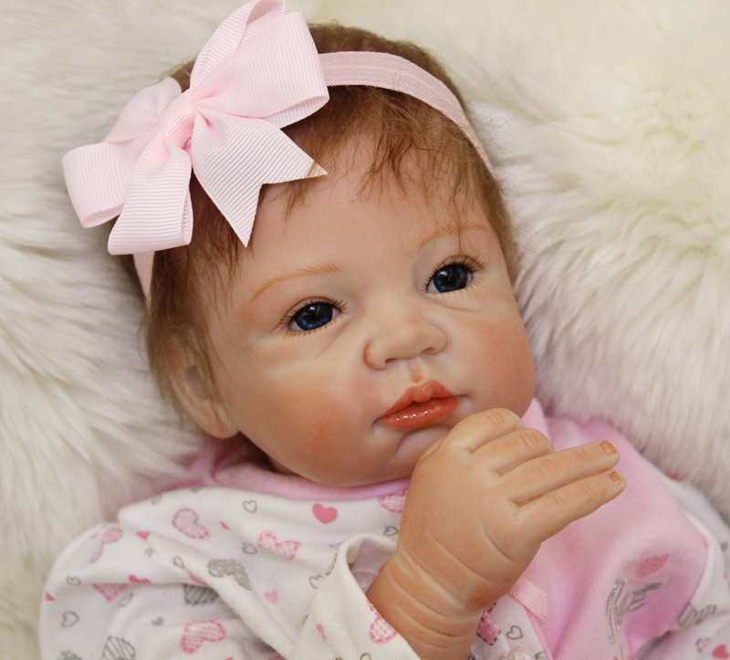 55cm Soft Silicone Reborn Girl Baby Dolls Toy Newborn Princess Babies Dolls Fashion Birthday Gift Present Play House Bedtime Toy 40cm silicone reborn baby doll toy 16inch newborn princess girls babies dolls birthday xmas gift girls bonecas play house toy