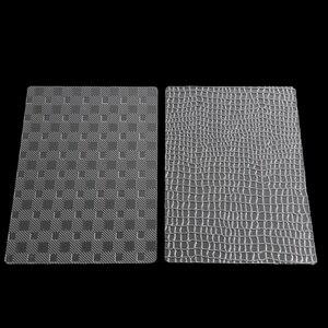 Aomily 6 шт./компл. сумка в клетку в полоску помадка формы для торта прозрачные пластиковые текстурированные сахарные поделки лист DIY Инструмен...