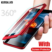 KINBOM 360 Case For Xiaomi Redmi K20 Note 7 5 6 Pro Soft film Hard Cover for  6A 4X Plus Full protection