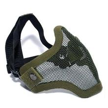 Tactical Mesh Mask Airsoft mask Shooting games mask Camo Half Face Protective Lower Mask Adult Breathable Mens Mask tactical half face metal steel net mesh mask hunting protective guard mask airsoft ear protection half face mask