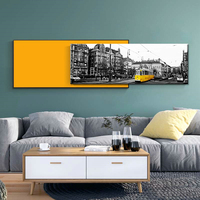 London Street Track Tram Wall Art Canvas Painting Nordic Posters And Prints Vintage Poster Wall Pictures For Living Room Decor