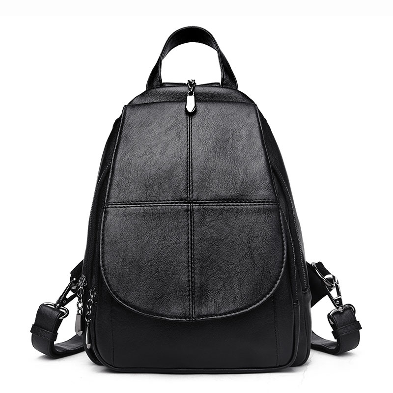 Free Shipping Women Bag Backpacks Female Genuine Leather Backpack Women School Bags For Teenagers Girls Travel Mochila Femininas nigedu women backpacks soft leather shoulder bag women s backpack school bags for teenagers girls mochila female travel bags