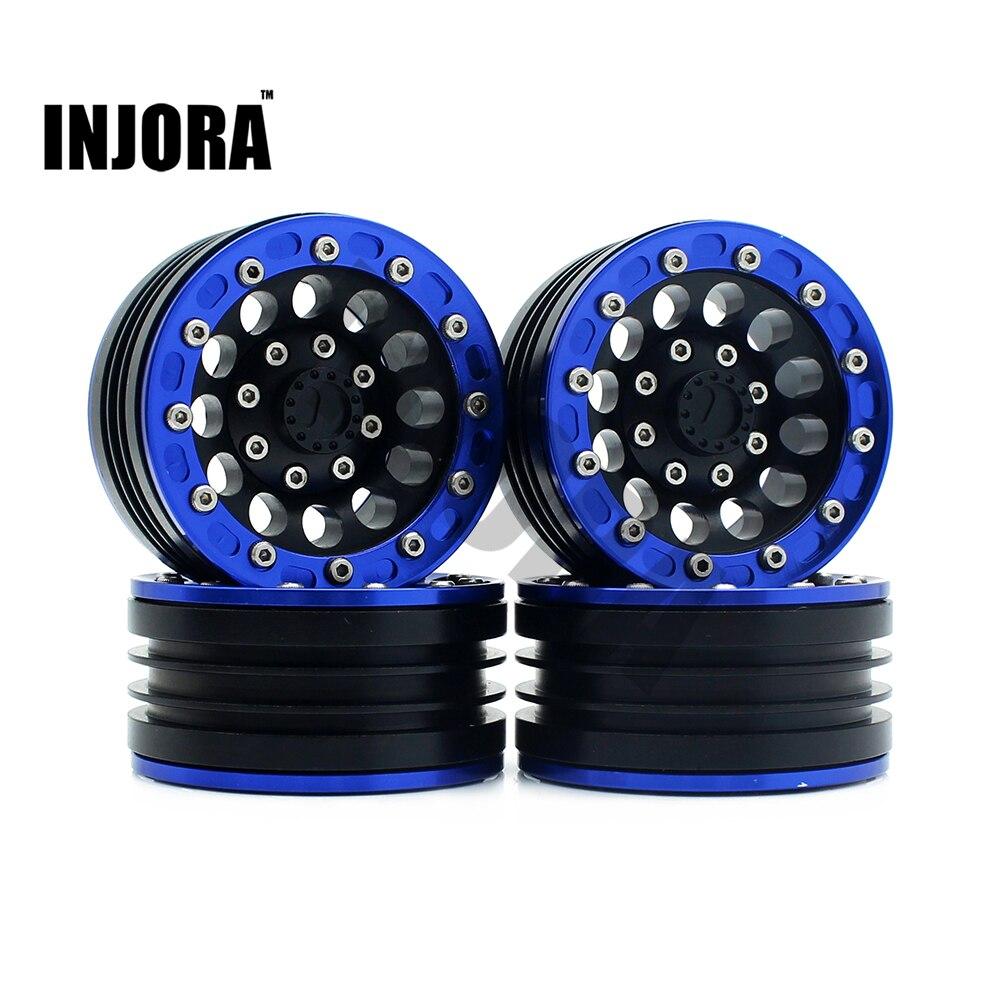 4PCS RC Crawler Car 1 10 Blue Metal 1 9 BEADLOCK Wheel Rim for 1 10