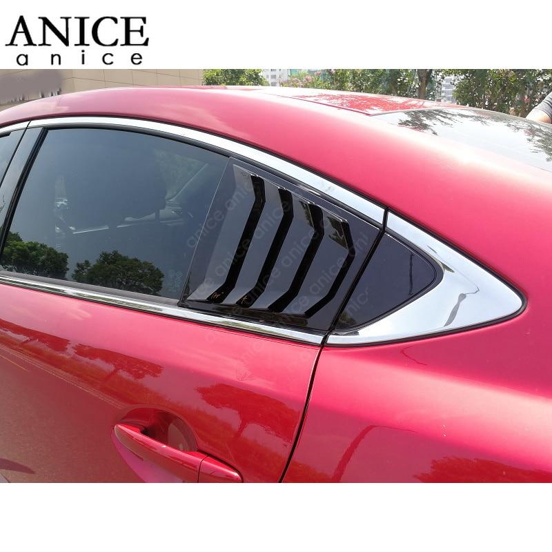 Matt Chrome REAR AIR VENT COVER FRAME TRIM For Mazda6 2014 2015 2016