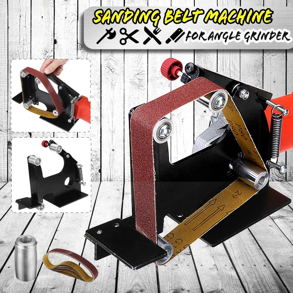 Drillpro Ponçage Ceinture Adaptateur changé 115//125mm Meuleuse d/'angle en Sander Sandin