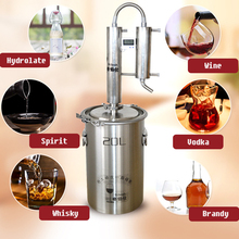 20L New 304 Stainless Moonshine Still Water Distiller Alcohol Vodka White  Spirit Brew Kits Destilador