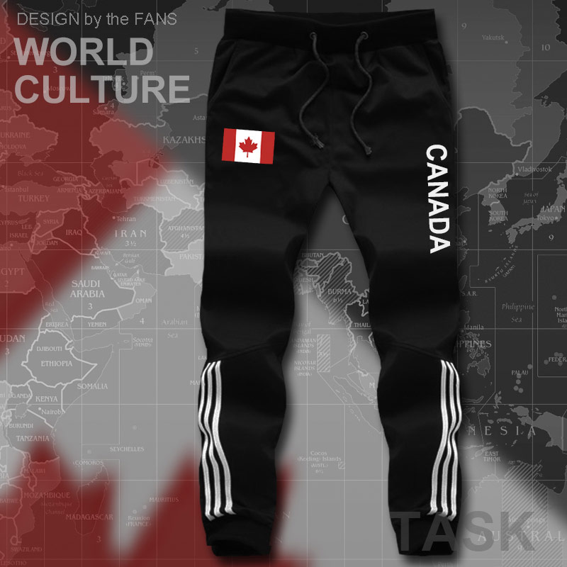 Canada Canadians mens pants joggers jumpsuit sweatpants track cargo sweat fitness casual nation country flag 2017