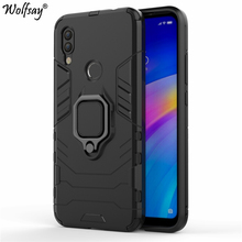 Wolfsay Xiaomi Redmi 7 Case, Car Holder Armor Cases Hard PC & Soft Silicone Cover for With Magnet