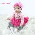 NPKDOLL 55 cm Silicone Renascer Bonecas Feitas À Mão Realistic Baby Doll 22 Polegada Reborn Silicone Beber Brinquedos Novo Estilo