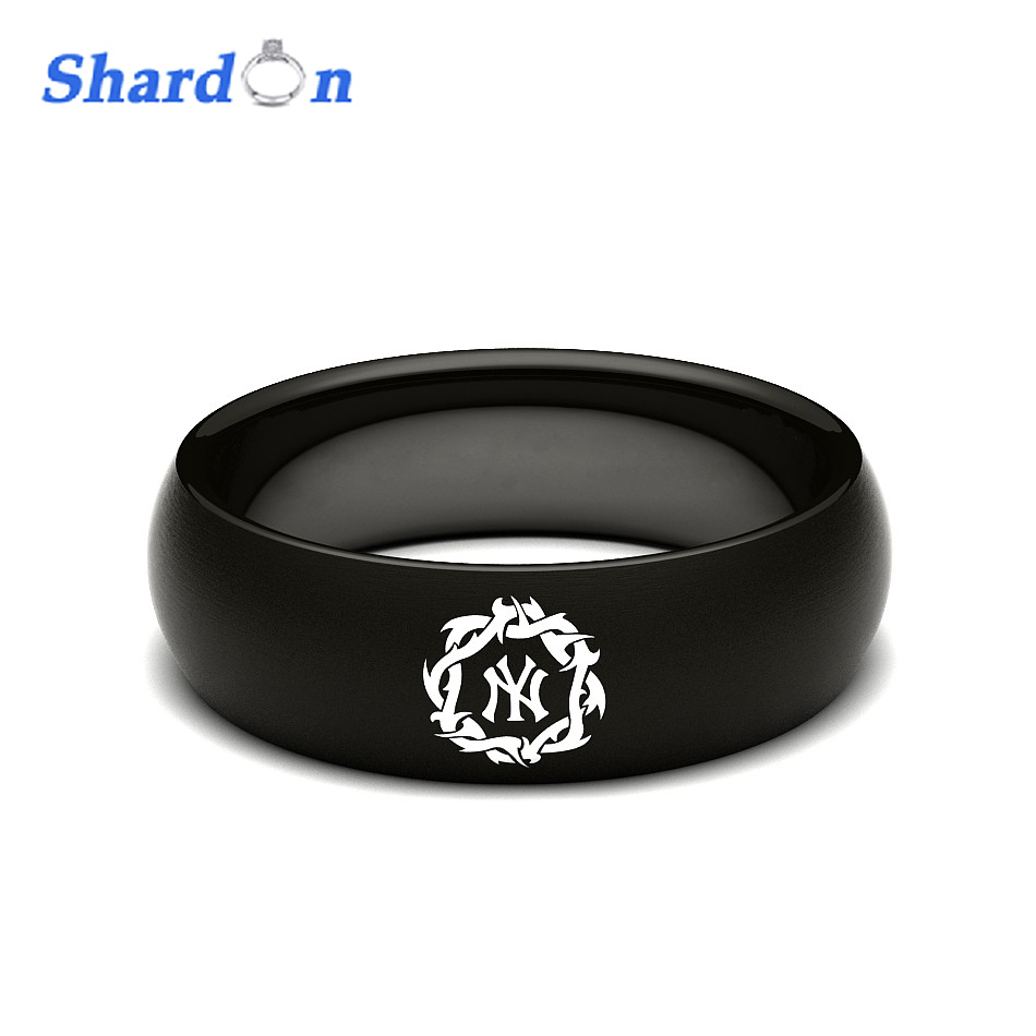 SHARDON Wedding band Engagement jewelry Tungsten shiny Rings for Men MLB Baseball New York Yankees Modern Logo Ring 3d wallpaper custom room photo wallpaper mural living room hd color world map painting sofa tv background wallpaper for wall 3d