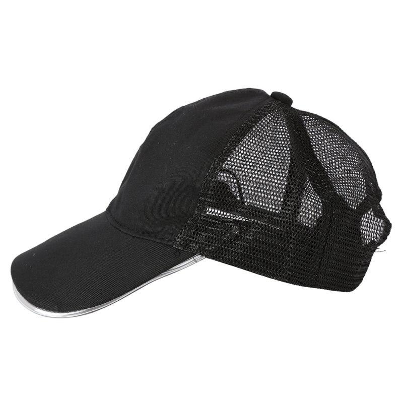 a5f3c7f80ef Fashion Night LED Baseball Cap Hat Light Glow Club Party Black Fabric  Travel Hat Snapbacks Caps-in Baseball Caps from Apparel Accessories on  Aliexpress.com ...