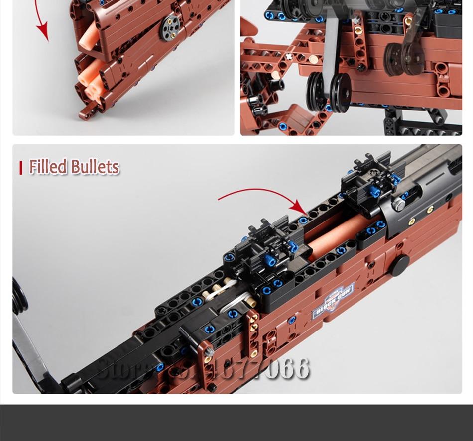 cada building blocks technic gun toy models & building toy gun model 98k bricks educational toys for children ww2 toys for kids 85
