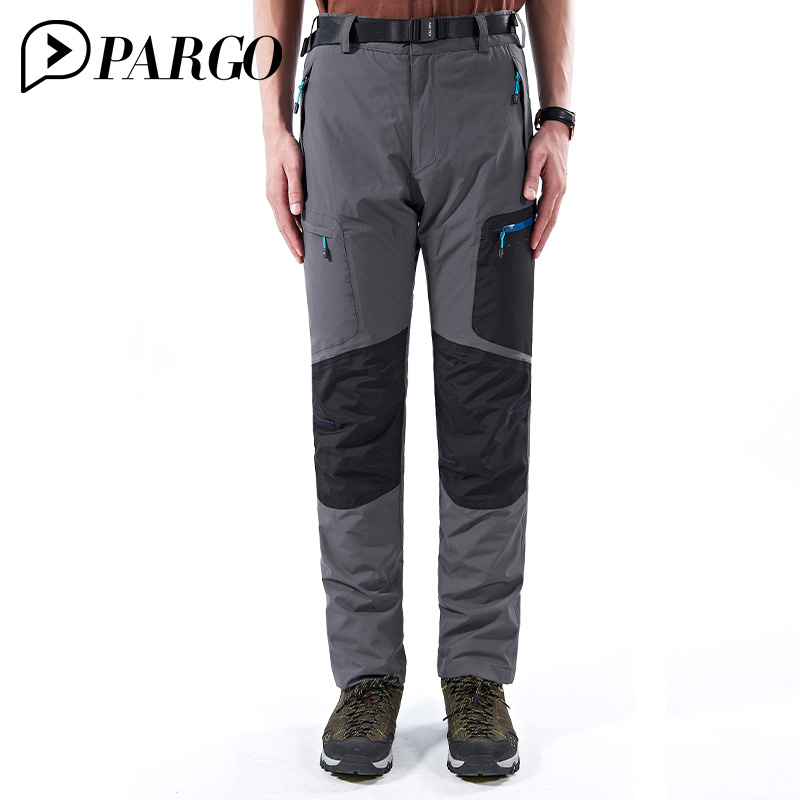 PARGO Pants Winter Outdoor Trousers Men Trekking Hiking Climbing Softshell Pants for Men Thick Fleece Waterproof Trousers m823 rax 2015 thermal fleece hiking pants for men women winter outdoor sports warm fleece trousers fleece camping pants 54 4f089