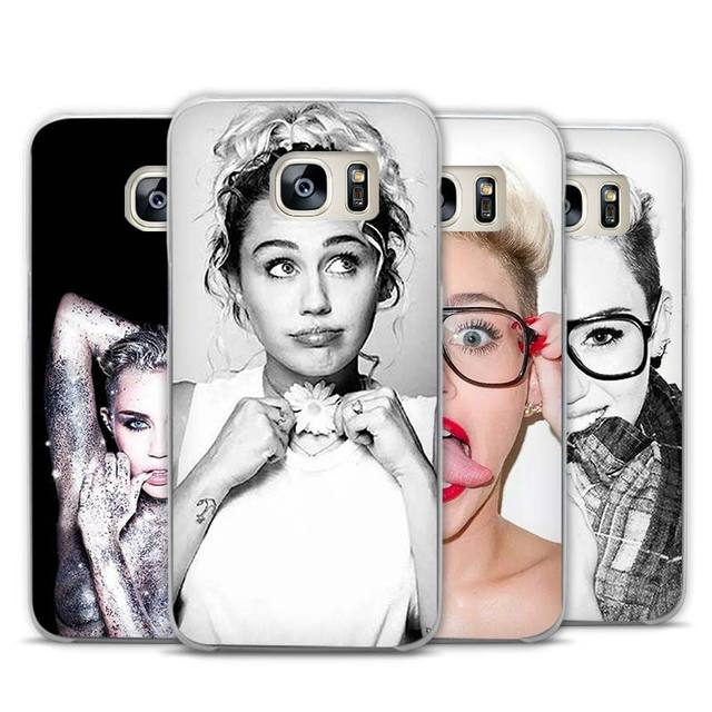 Miley Cyrus Transparent Phone Case Cover for Samsung Galaxy S3 S4 S5 S6 S7 Edge Plus Mini