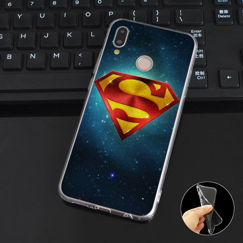 DREAMFOX M240 Hot Superman Soft TPU Silicone Case Cover For Huawei Honor 6A 6C 6X 7A 7C 7S 7X 8 Lite Pro in Fitted Cases from Cellphones Telecommunications