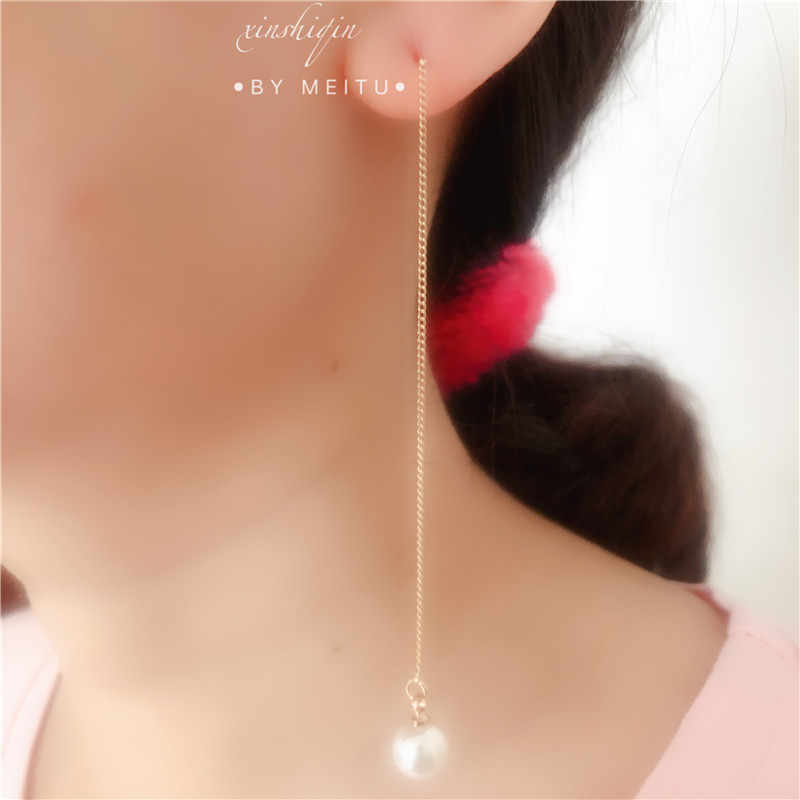 High Quality Pearl Earrings Genuine Natural Freshwater Pearl gold Earrings Long tassels Jewelry For woman Wedding Gift