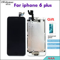 With Tempered Glass AAA LCD Full Assembly For IPhone 6 Plus Touch Screen Digitizer Display Complete