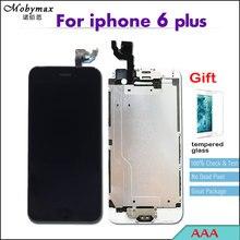Полное собрание PANTALLA для iPhone 6 plus A1522 A1524 A1593 сенсорный экран планшета, замена дисплей + Главная Кнопка + спереди камера