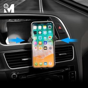 Image 3 - 자동차 전화 마운트 ABS GPS 모바일 홀더 환기 자석 셀 스탠드 아우디 A3 8V A4 B9 A5 A6 C7 Q3 Q5 인테리어 액세서리