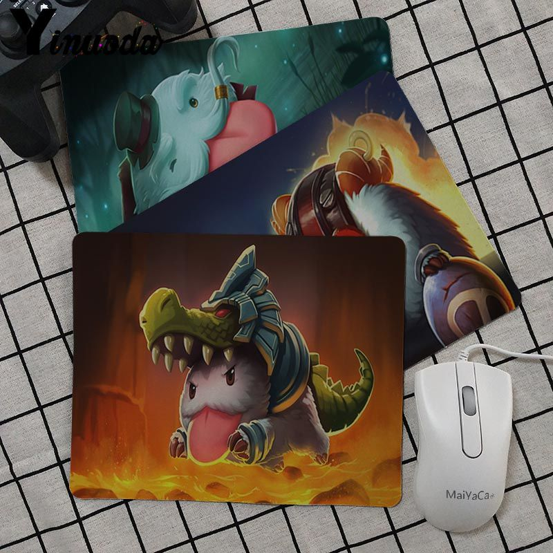Yinuoda Poro League Of Legends Laptop game Gaming Mice Mousepad desk mat Non-Slip Laptop Computer PC gaming mouse pad image