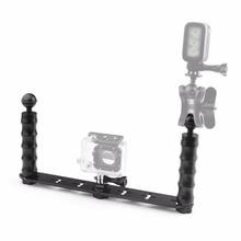 Selfie монопод Дайвинг Подводные Гора + LED Заполните свет для GoPro 3/3 +/4/5 Xiaomi Yi SJ4000 SJ5000 SJ6000 Камера