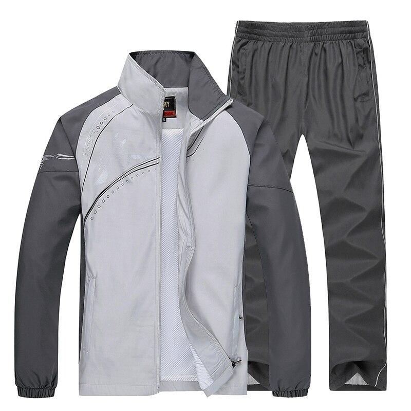 2018 New Fashion Outwear 5 Color Men Tracksuit Sweatshirt Spring Autumn Men ClothSuit Plus Size L-5XL