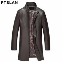2017 man real lambskin coat full pelt slim match coat actual leather-based stand collar coat biker zipper closure