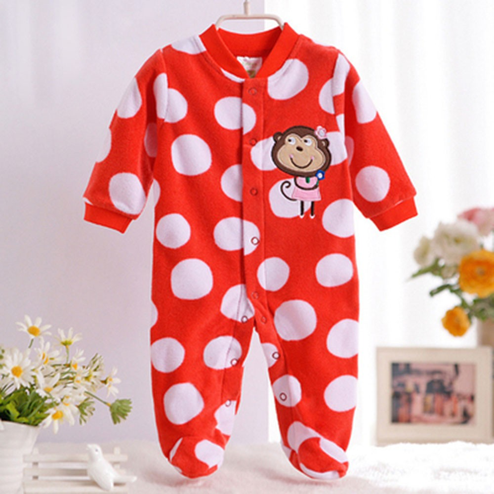 2016-Autumn-Spring-Wave-Point-Baby-Fleece-Pajamas-Rompers-One-Pieces-Long-Sleeve-Jumpsuit-Cute-Animal-Baby-Sleep&Play-Clothes-CL0886 (4)