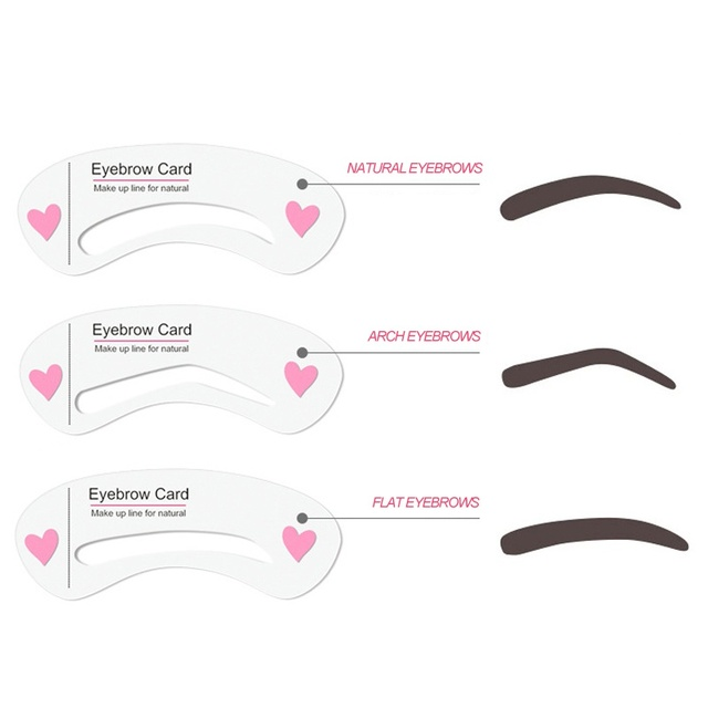 3Pcs Thrush Card Threading A Word Eyebrow Makeup Tools Threading Artifact Thrush Aid Card Eyebrows Mold Cosmetic Accessories