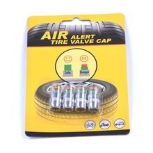 4PCS Car Styling 2.2bar 32PSI Car Tyre Tire Pressure Valve Stem Caps Sensor Eye Air Alert Tire Pressure Monitoring Tools Kit